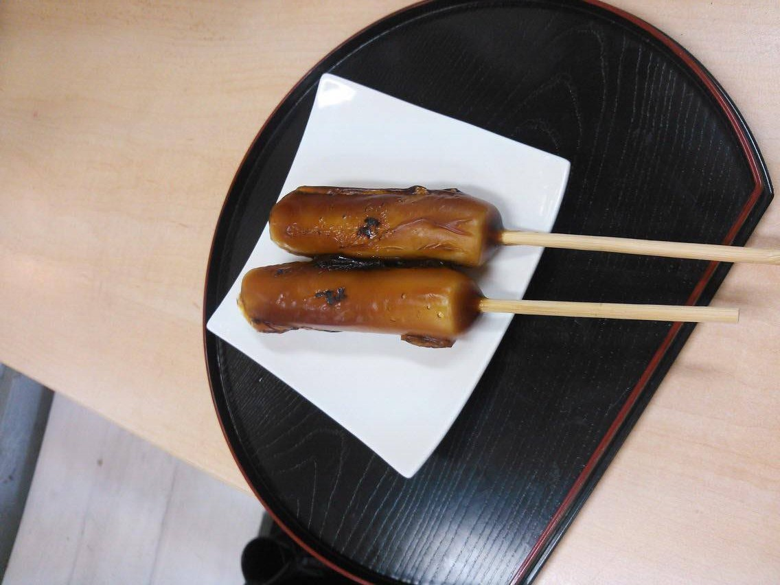 Dango(dumplings) that are  not in round shape!?