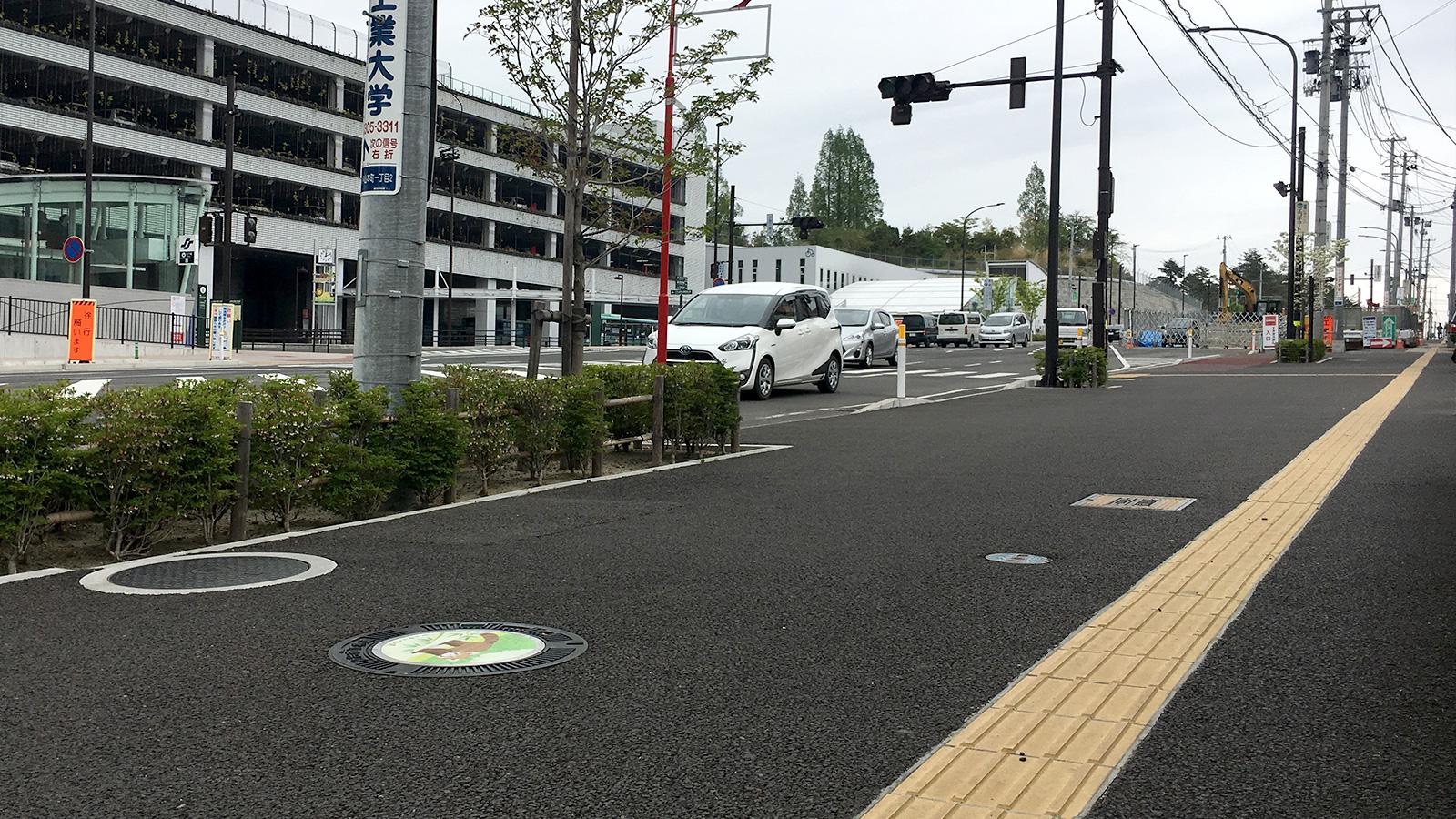 仙台・八木山に巷で話題の「ご当地マンホール」が登場!