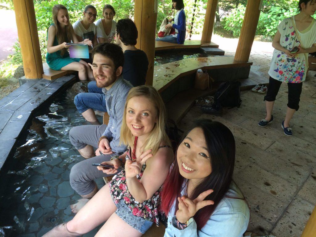留学生30人と秋保温泉郷へ行って来ました