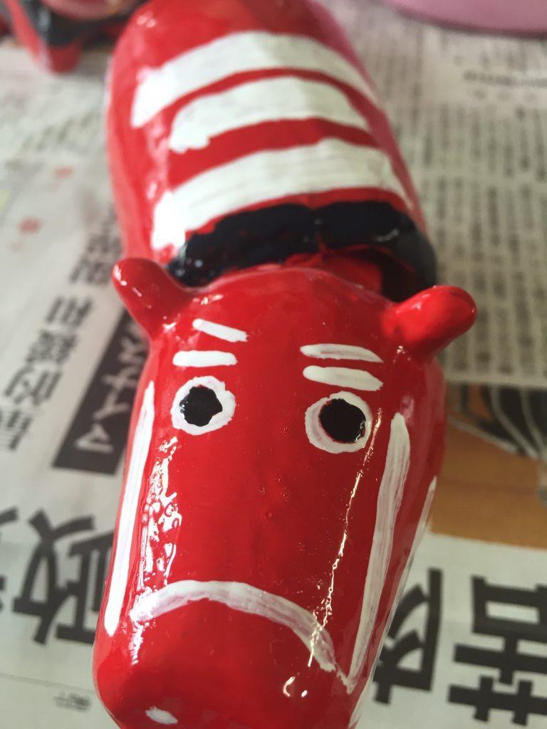 会津若松で伝説の「赤べこ」を作ってみた。